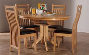 Oak Round Dining Table Extendable Starrkingschool - Round dining room tables for 4