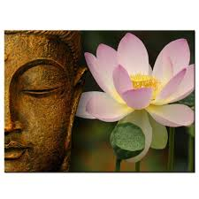 amazon com buddha canvas wall printing art lotus flower home