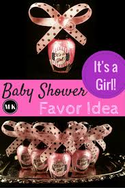 nail baby shower favors miriam kokolo it s a girl pink nail baby shower favor