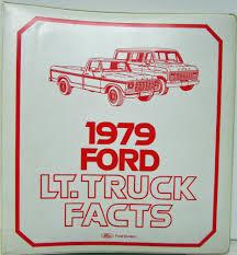 ford dealer light truck facts data book f100 f250 f350 ranchero