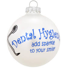 dental hygienists glass ornament occupations