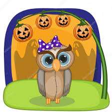 halloween owls with pumpkin u2014 stock vector reginast777 63586815