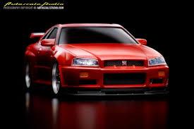 modified nissan skyline r34 mzc1r nissan skyline gt r r34 v spec red autoscale studio オート