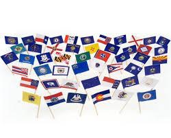 Montana State Flag Amazon Com Us 50 States Flag Toothpick Box Of 100 Toothpicks
