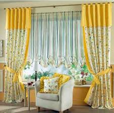 Yellow Valance Curtains Astonishing Window Curtain Ideas Living Room Using Floral Fabric