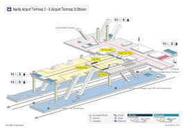 Narita Airport Map Rakuraku Odekake Net Train Station Maps Narita Airport Terminal