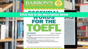 download essential words for the toefl 7th edition steven j