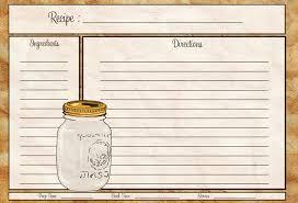 printable recipe cards 4 x 6 recipes cards zoplar dcbuscharter co