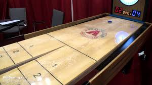 ricochet shuffleboard table for sale summit snapback rebound commercial shuffleboard table bmigaming