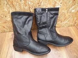 womens boots uk look look womens winter zip detail black faux leather mid calf