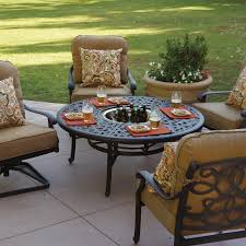 Patio Furniture Sets With Fire Pit by Darlee Santa Monica 5 Piece Cast Aluminum Patio Fire Pit