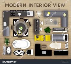 Loft Interior Set Loft Interior Top View Elements Stock Vector 603183071