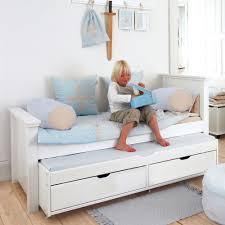banquette chambre enfant lit 90x200 avec lit gigogne et tiroirs alfred et compagnie