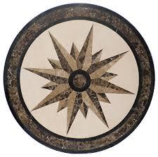 beautiful honed marble waterjet floor medallion