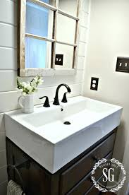 prepossessing farmhouse style bathroom sink in interior home