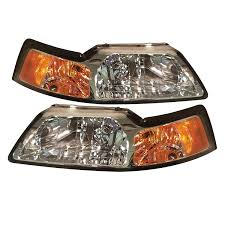 Cobra Head Light Fixtures by Amazon Com Ford Mustang All Model Headlight Oe Style Replacement