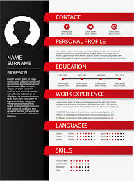 curricular vita red and black color resume vector png resume curriculum vitae