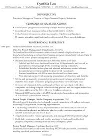 Sample Resume Executive Summary by Resume For An Executive Business Director Susan Ireland Resumes