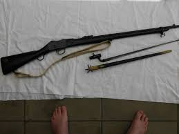 martini henry action martini enfield rifle and p95 bayonet