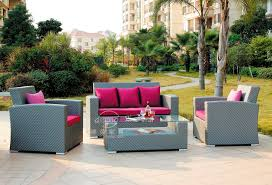 China Garden Wicker Furniture Supplier Outdoor Furniture Exotic - Patio furniture sofa sets