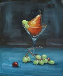 martini glass acrylic painting art du jour by martha lever july 2012