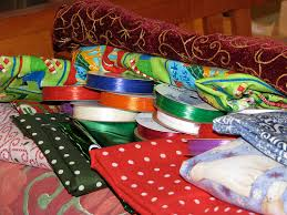 cloth ribbon pigs gourds and wikis wrapping cloth and ribbon