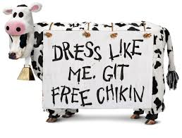 chickfila halloween fil a is giving out free food today if you dress up like a cow