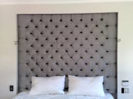 bedroom engaging grey tufted headboard shouse pinterest