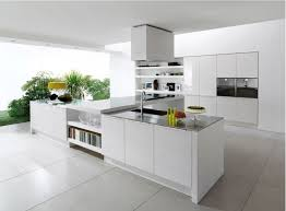 Kitchen Cabinet Plywood Contemporary White Shaker Kitchen L Shaped White Gloss Plywood