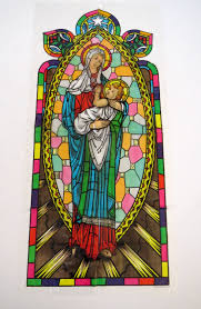 Stained Glass Window Decals Vintage Plastic Stained Glass Madonna And Child Window Film