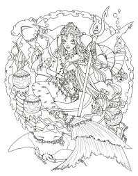 274 coloring pages sea mermaid images