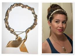 chain headband how to make a ribbon chain headband