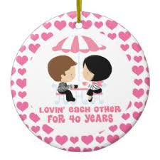 40 years together ornaments keepsake ornaments zazzle