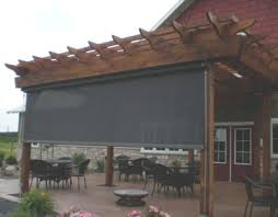 Outdoor Solar Shades For Patios Pergola Designs With Roll Shades Exterior Retractable Solar