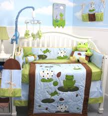amazon com soho froggies party baby crib nursery bedding set 13