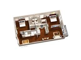 Two Bedroom Floor Plan by Broadway The Lofts Of Columbia