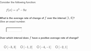 How To Find The Rate Of Change In A Table Average Rate Of Change Practice Khan Academy