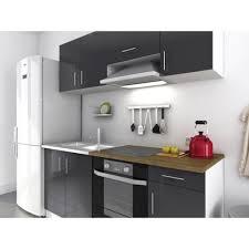 achat cuisine pas cher evo cuisine complète 1m80 gris laqué haute brillance achat vente