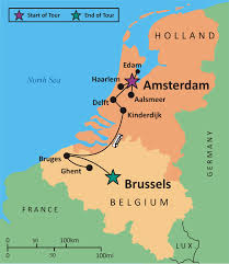 map netherlands belgium belgium and netherlands map major tourist attractions maps