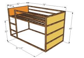 Instructions For Building Bunk Beds by Ana White How To Build A Fort Bed Diy Projects