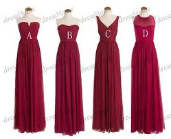 long burgundy bridesmaid dress wine red bridesmaid by dresshome