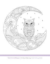 blue star coloring book exotic animal designs by artist katie
