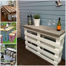 Outdoor Pallet Table Home Design Impressive Making A Bar Out Of Pallets Cute Outdoor
