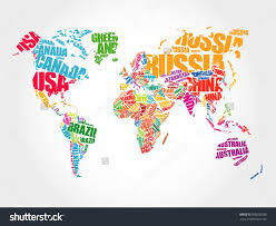 World Maps With Countries by Real World Clipart World Country Pencil And In Color Real World