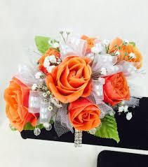 prom corsage orange prom corsage swenson silacci flowers