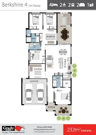 berkshire 4 large 4 bedroom house floor plan townsville