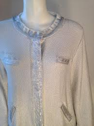 silver cardigan sweater marc aurel silver white handpainted cardigan sweater pullover size