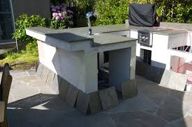 Outdoor Kitchen Construction Outdoor Kitchen Construction Tile Time