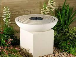 outdoor water features with lights solar water fountains ideas