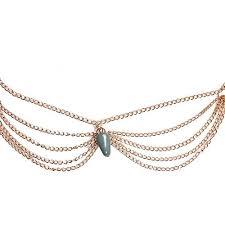 hair band womens 18 k gold dangle garland headband hair band forehead